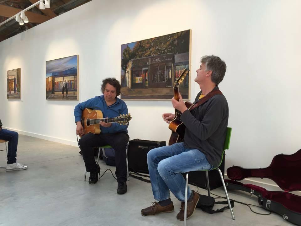 Darren and Howard Alden at Bradford College