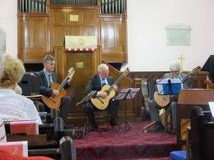 A recent performance with the Highly Strung Guitar Trio