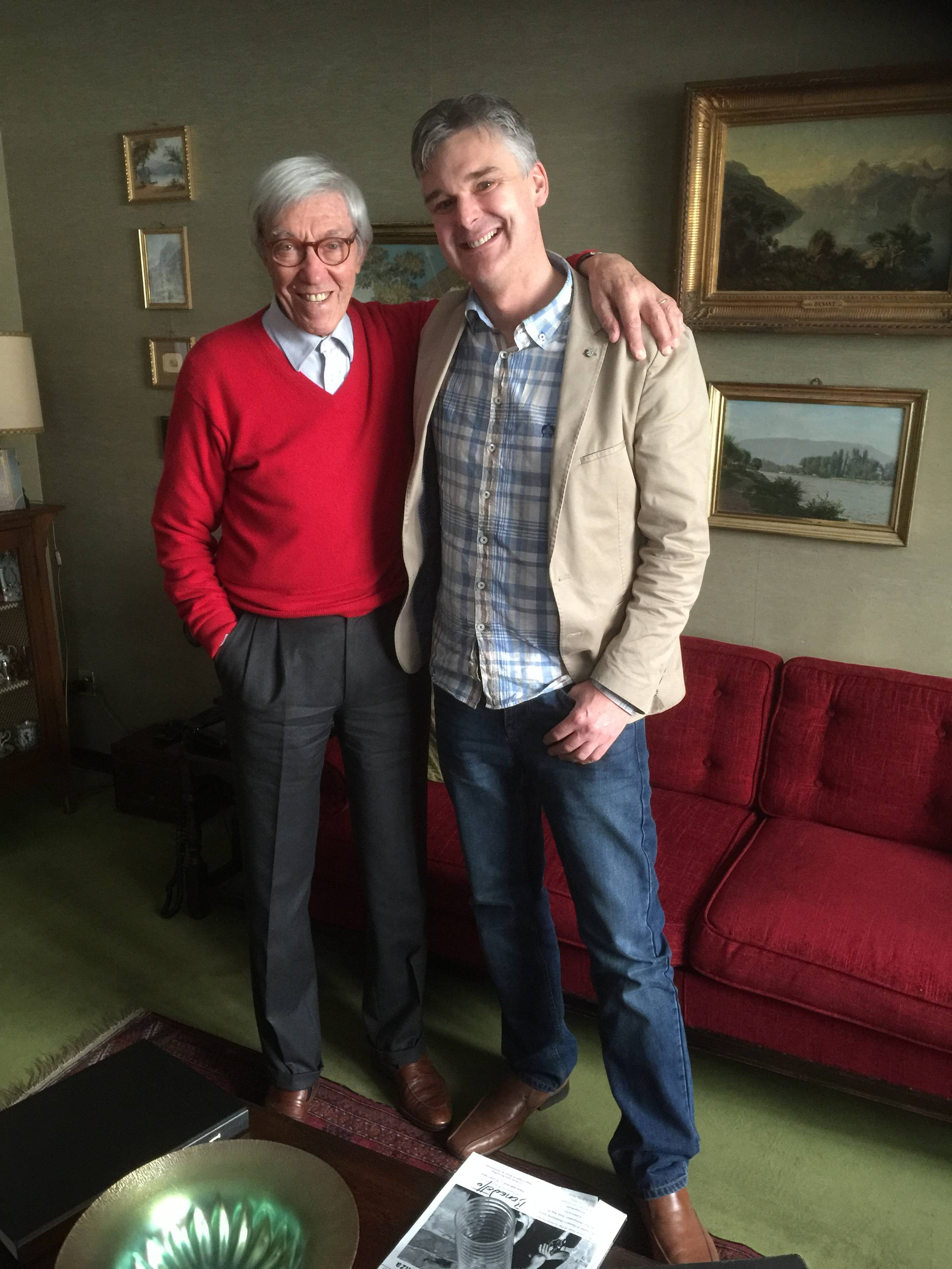 With the legendary Franco Cerri in Milan, Italy