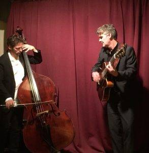 Playing with bassist Cristiano Da Ros in Milan, Italy